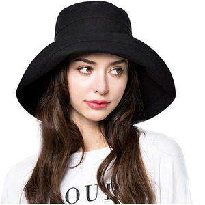 Bucket Sun Hat Women Floppy Cotton Hats Wide Brim